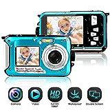 Unterwasserkamera wasserdichte 1080P FHD 24 MP Unterwasser Camcorder Dual Screen Videokamera...