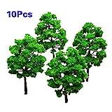 Nrpfell Model Baum Zug Set Plastik Stamm Landschaft HO N - 10stueck
