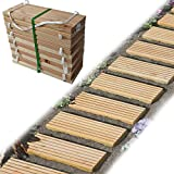 Gartenpirat Rollweg Holz 35x250 cm Gartentritte Holz-Tritte, Holz-Fliesen fr den Weg im Garten