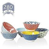 Amazingware Dessertschalen 6er Set aus Porzellan, 280 ml, Mini-Schssel, Dessertschale, Snackschale,...