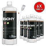 BIOHY Universal Flüssig-Entkalker 6 x 1 Liter Flaschen + Dosierer | Konzentrat für ca. 20...