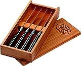 RÖSLE Steakmesser Set 4-teilig, Edelstahl 18/10, inkl. praktischer Holzbox