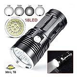 LED Taschenlampe, huichang 45000LM Wiederaufladbare LED Suchscheinwerfer taktische Taschenlampe für...