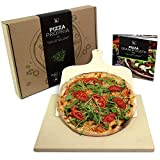 #benehacks Pizza Propria Pizzastein 1,5cm fr Backofen & Grill - 30 x 38 x 1,5 cm - Set zum Backen...