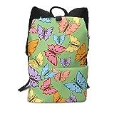 Homebe Art Büchertasche/Reisetasche mit Schmetterlingen, für Schule, Reisen, Wandern, klein,...