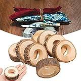 elegantstunning 10 Stück Serviettenring aus Holz zum Basteln von Hotels, Tischen, DIY-Projekte,...