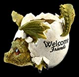 Figuren Shop GmbH Drachen Fantasy-Blumentopf - Welcome Friends | Blumenübertopf, Pflanztopf,...