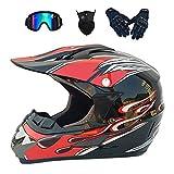 CCZC Motocross-Helm Motorradhelm ATV-Roller-Downhill Motorradhelm Cross Helme Schutzhelm ATV Helm...