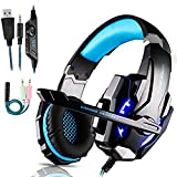 Gaming Headset für PS4, Gaming Kopfhörer mit Mikrofon Stereo Surround Bass Sound 3.5 mm...
