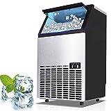 Kommerzielle Eismaschine, Edelstahl, 50 kg Eis pro 24 Stunden, LED-Anzeige, einstellbare Dicke, 36...