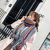 mlpnko Vintage literarische Trend Strickwolle Schal Studentinnen halten warme Wilde Kragen