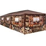 TecTake 403122 - XL Pavillon Almhtte 3x9 m, 8 abnehmbare Seitenteile, Wasserabweisendes Material