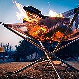 Feuer Im Freien Brennen Pit-Stand, Bewegliche Festbrennstoff Rack-Folding Herd Feuer Rahmen Schnelle...