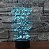 Tianyifengg 3D-LED-7 Farbe-Fernbedienung-Nachtlicht-visuelle Bunte Angeln Lampe Studie Fisch...