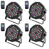 U`King DMX Parlicht Scheinwerfer mit Fernbedienung RGBW 36 LED Lichteffekt für KTV Disco Musik...