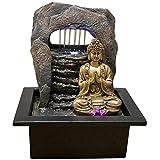 zen' Light Buddha Zen Dao Fontaine, Kunstharz, Bronze, 21x 17x 25cm