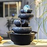 J.W. Einfache Geometrie Zu Hause, Feng-Shui-Kugel Ornamente Handwerk Büro-Desktop-Brunnen Brunnen...