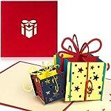 PaperCrush Pop-Up Geburtstagskarte fr Geldgeschenk [NEU!] - 3D Popup Karte zum Geburtstag,...