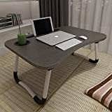 ACITMEX Laptop-Betttisch, faltbar, tragbar, mit Getränkeschlitz, Notebook-Ständer,...