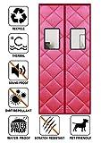 Liveinu Wärmeschutzvorhang Magnet mit Fenster Thermo Türvorhang Isolier Schutz Panel-Isolierung...