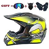 SSIC Kinder Motocross helm Motorradhelm Kind,D.O.T Standard Kinder Quad Bike ATV Go-Kart-Helm (S)