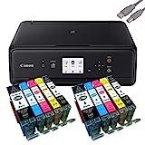 Canon PIXMA TS5050 Drucker Tintenstrahl-Multifunktionsgerät schwarz (Drucken, Scannen, Kopieren,...