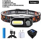 SHALU Superhelle LED-Scheinwerfer Cob Work Light 7 Beleuchtungsmodi mit 18650 Batterie Geeignet zum...