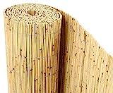 bambus-discount.com Schilfrohrmatten Premium Beach, 200 hoch x 600cm breit, EIN Produkt Sichtschutz...