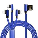 TOUSHI Ladekabel 3 IN 1 8Pin Micro Typ C Nylon USB Kabel fr iPhone 8 X 7 6 6S Plus iOS 10 9 8...