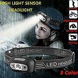 Stirnlampe LED USB Lumen wiederaufladbarer Scheinwerfer, Fisch hell wasserdicht Stirnlampe...