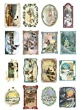 Decoupage Papier Pack (20 blatt 10x15cm) Weihnachten Christmas Winter Landscapes FLONZ Vintage Retro