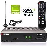 Opticum DVB-T2 Receiver inklusive DVB-T AX 570 Freenet TV digitaler H.265 Empfänger inklusive DVB-T...