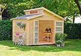 Outdoor Gartenhaus / Stufendachhaus Benno 3 Sockelma: 280 x 280 cm Dachstand: 320 x 316 cm...
