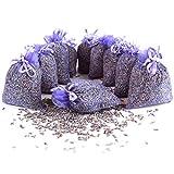 Quertee 10 x Lavendelsäckchen mit echtem französischen Lavendel - Insgesamt 100g Lavendelblüten...