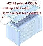 10 Stck Einweg Maske Gesichtsmaske Vlies Einwegmaske Mundschutz Staubschutz mit Ohrschlaufen 17,5 *...