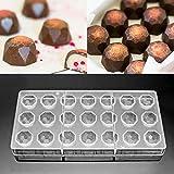 Jeteven 3D Schokoladenform Pralinenform Backform Backzubehör aus Polycarbonat (PC) Transparent,...