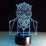 Tianyifengg 3D-LED-7 Farbe-Fernbedienung-Nachtlicht-visuelle Schlaftabellenillusion...