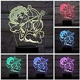 3D LED Lampe Cupid Pfeil und Bogen Nacht 7 Farbwechsel RGB Junge Kind Kinder Baby...
