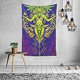N/A Wandbehang, Psychedelische Wandkunst, Dorm Dekor Strand berwurf, indische Wandteppiche Kunst 40...