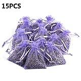 rosemaryrose Lavendel Lavendelsäckchen Spinnenabwehr Mottenfalle -15Pcs Lavender Scented Sachets...