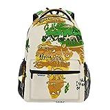 nobrand Dinosaurier Weltkarte Reise Laptop Rucksack Daypacks Kinder Kinder wasserabweisend College...
