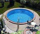 Summer Fun Stahlwandbecken Korsika Exklusiv rund ø 4,50m x 1,20m Folie 0,6mm Einzelbecken Pool...