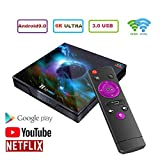 WXJHA H10 Pro Smart TV Box Android 9.0 4GB 32GB Quad-Core-2.4G & 5G WiFi 1080P Android Box Media...