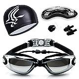 Schwimmbrille, Anti-Fog UV-Schutz beschichteter Linse kein Auslaufen Schwimmen Brillen, mit...