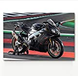 DPFRY Leinwandbilder Wandkunst Bild Aprilia Rsv4 Fahrzeug Motorrad Superbike Poster Drucken Leinwand...