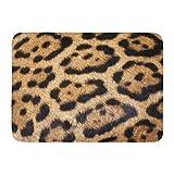 AoLismini Badteppich Tier Jaguar Fell Gel Wild Aninals Patterns Cool Badezimmer Dekor Teppich