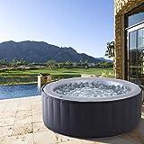 BRAST Whirlpool MSpa aufblasbar für 4 Personen SPA Ø180x70cm In-Outdoor Pool 118 Massagedüsen...