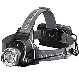 Naponior LED Stirnlampe Mit Zoomfunktion Und Infrarot-Bewegungssensor, Wasserdicht Kopflampe USB...