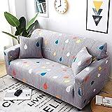 KingZ 1/2/3/4 Sitzer Sofabezug Sofaüberwurf Stretch weich elastisch farbecht Regentropfen 3 Sitzer...