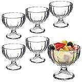 Bormioli Rocco, Becher für Eiscreme, Desserts, Vorspeisen, Cocktails, 6 Stück, glas, Alaska Ribbed...